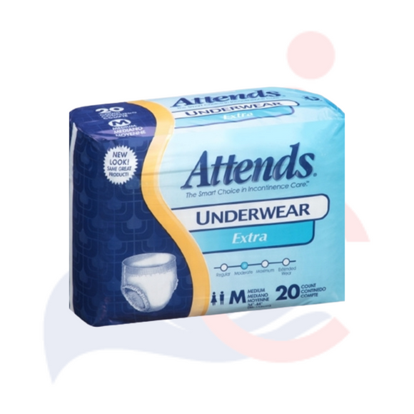 Attends Underwear Extra Absorbency Medium, Large & Extra Large