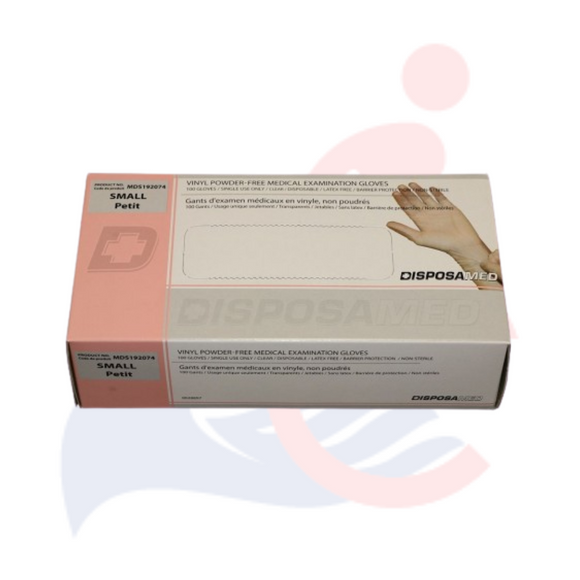DisposaMed® - Vinyl Powder-Free Medical Examination Gloves