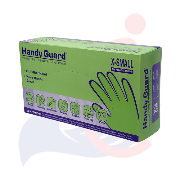 Handy Guard® - Powder Free Nitrile Exam Gloves - Extra Small - 100 count box