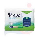Prevail® Nu-Fit® Extra Large Disposable Heavy Absorbency - Unisex Adult Incontinence Brief