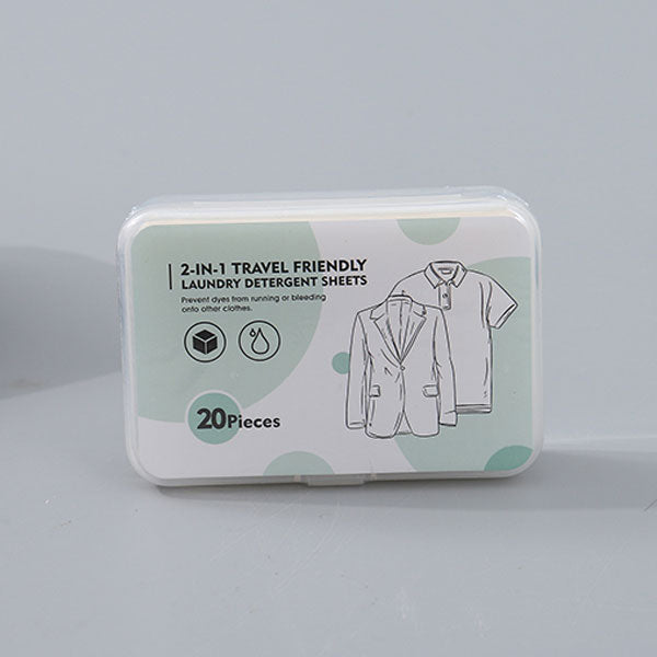 2-in-1 Travel Friendly Laundry Detergent Sheets