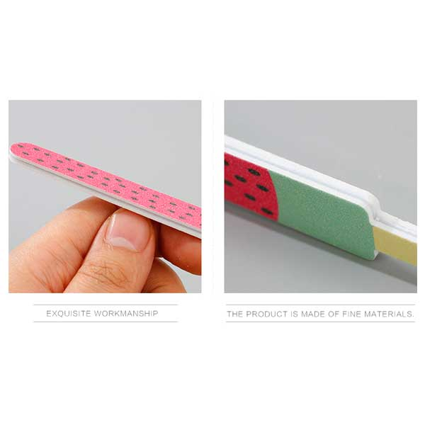 2-Piece Nail File Set (Dragonfruit+Ice Lolly Design)