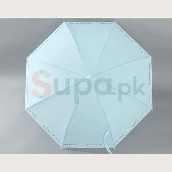 Letters Pattern Umbrella with Long Handle (Price For 1 Piece)