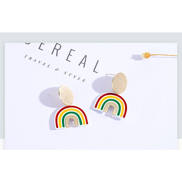 Rainbow Design Earrings