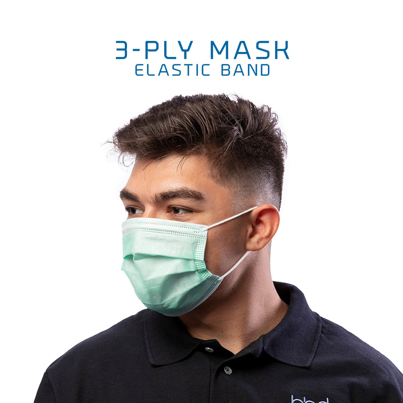 3 Ply Surgical Masks (Pack of 6) Nose and Mouth protection against dust, pollen, bacteria, virus