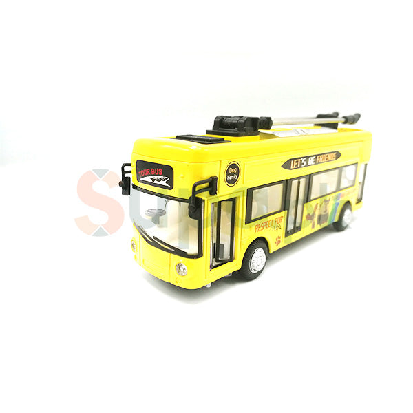 Alloy Bus Toy with Sound