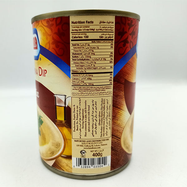 Americana Hommos Tahini 400 gm Ready to Eat- Pack of 3