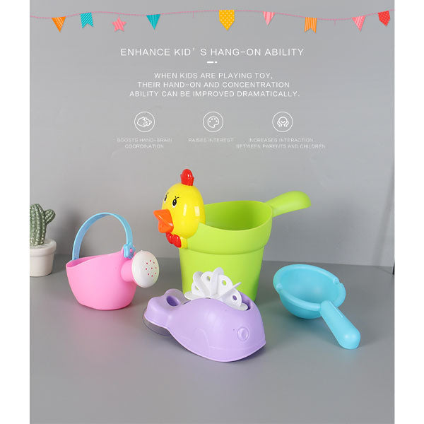 4-in-1 Cartoon Chicken Beach Toy Set