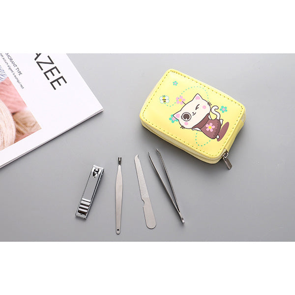 4-in-1 Manicure Set with Rectangular Mirror