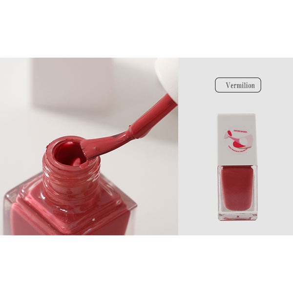 Peel-Off Water-Based Nail Polish (Vermilion)