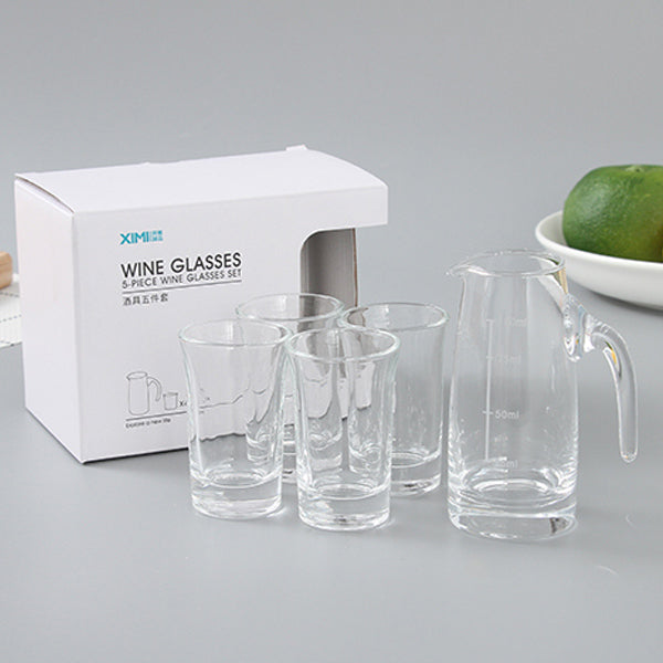 Mini 5-Piece Wine Glasses Set