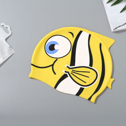 Cartoon Fish Swimming Cap for Children