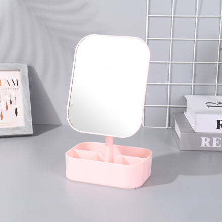 Stylish Desktop Mirror with Storage