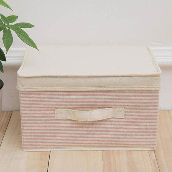 Best Ramie Cotton Striped Storage Box
