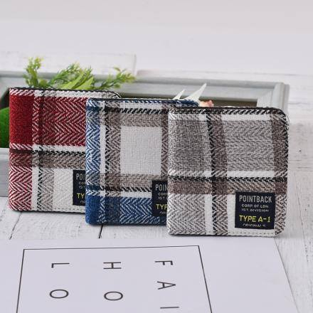 Plaid Short Wallet for Women (Price For 1 Piece)