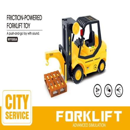 Friction-Powered Forklift Toy