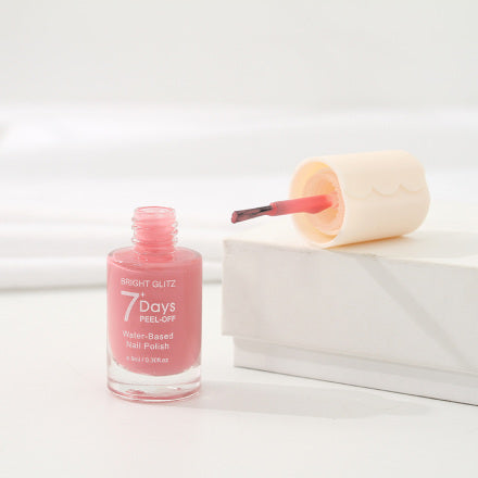 Bright Glitz 7-Day Peel-Off Water-Based Nail Polish (Girlish Pink)