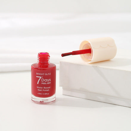 Bright Glitz 7-Day Peel-Off Water-Based Nail Polish (Chinese Red)