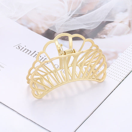 Golden Shell Hair Claw Clip (Artificial Jewelry)