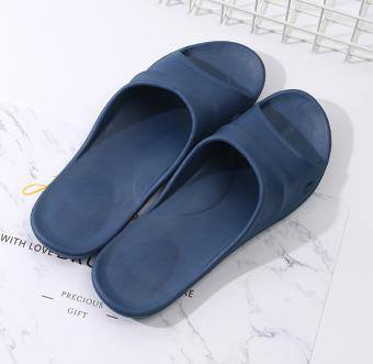 Classic Simple Style Shower Slippers for Men (Navy Blue)(42/43)