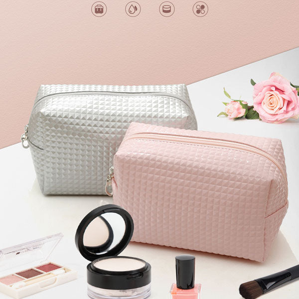 Stud Pattern PVC Rectangle Cosmetic Bag (Price For 1 Piece)