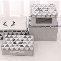 Simple Antlers Collection Fabric Storage Box with Front View Display