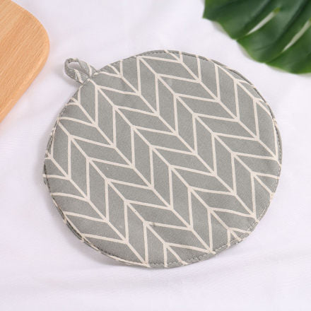 Geometry Pattern Round Pot Mat (Gray) (Price for 1 piece)