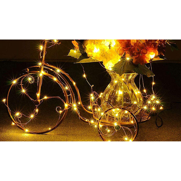 200 LED 22M Copper Wire 8 Modes Solar String Lights Dustproof and Waterproof