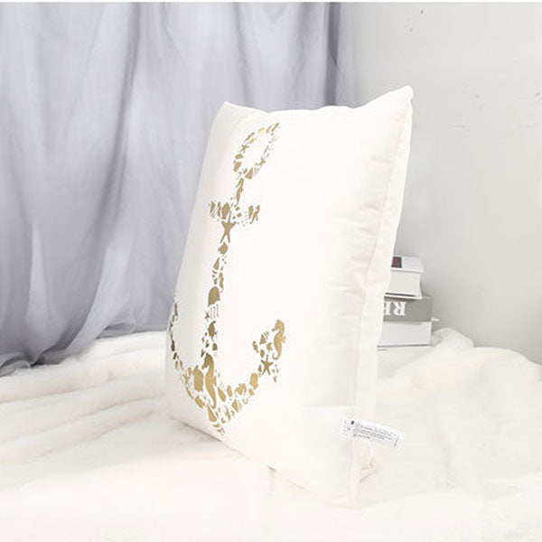 Anchor Hot Stamping Throw Pillow