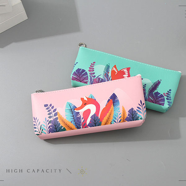 Animal Collection Triangle Pencil Case