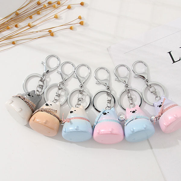Animal With Bell Bag Charm Keychain Pendant (Price For 1 Piece)