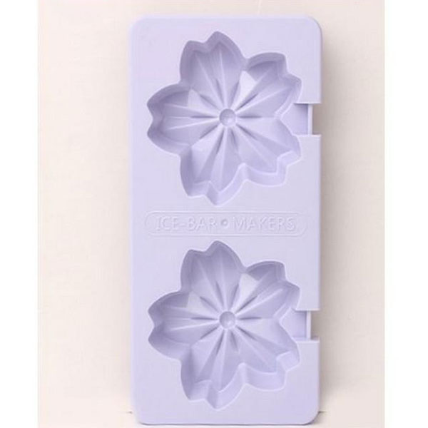 Beautiful Flower Design Ice & Jelly Mouldes/Frame/Box-Purple