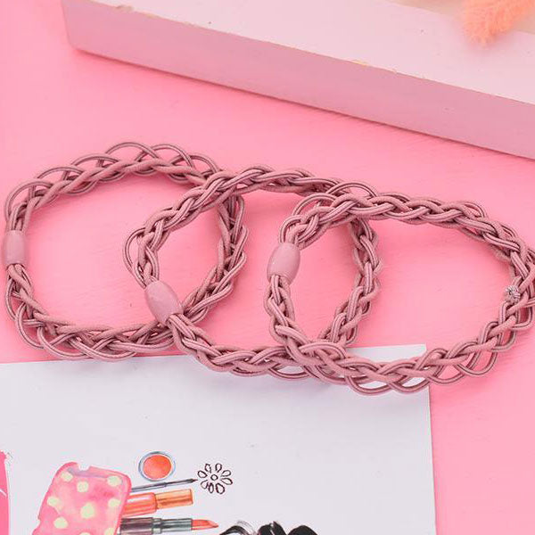Braided Hair Rope Meet The Beauty (Price For 1 Set)