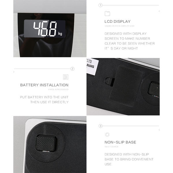 AW839-Brushed Metal Design Digital Body Weight Bathroom Scale