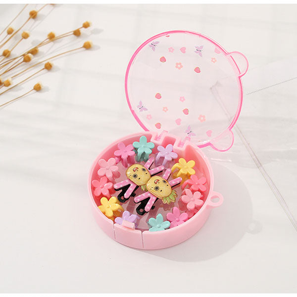 Cartoon Boxed Hair Claw Clip + Hair Clip Kit