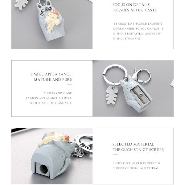 Cat Pencil Sharpener Bag Charm Keychain Pendant (Price For 1 Piece)