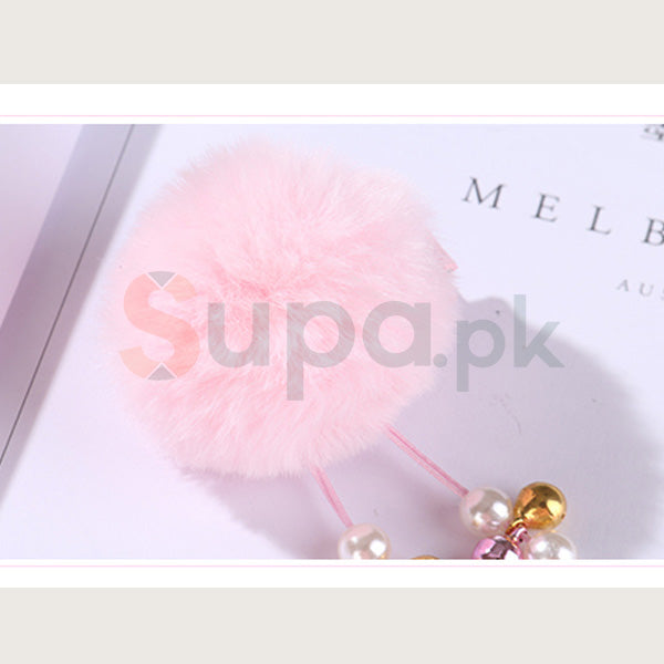 Chinese Style Fluffy Hair Clip for Children
