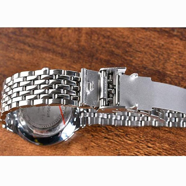 Classic Business Alloy Watch With Black Dial- Women
