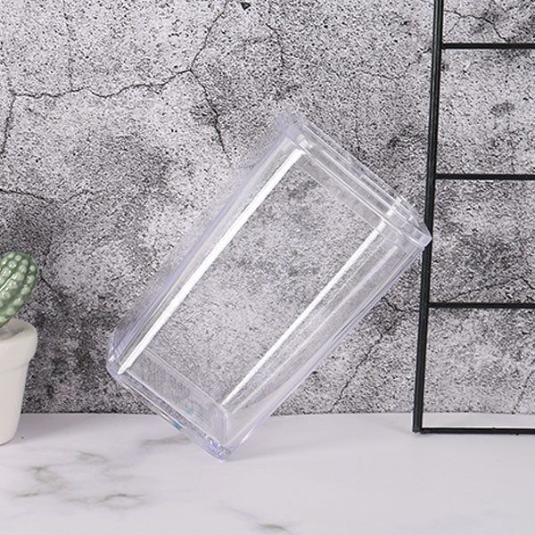 Clear Solid Color Toothbrush Toothpaste Holder