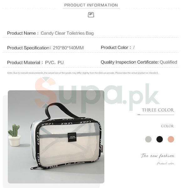 Candy Clear Toiletries Bag (Ladies Bag online)