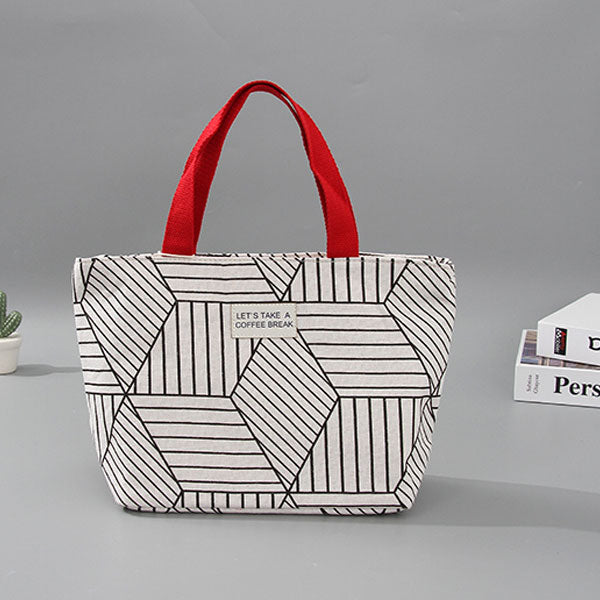 Creative Geometry Pattern Lunch Bag