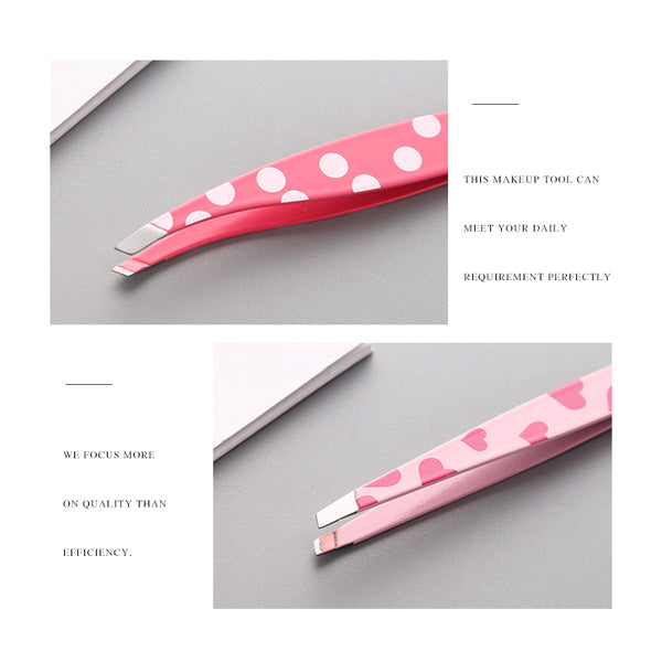 Dot Pattern Eyebrow Tweezers