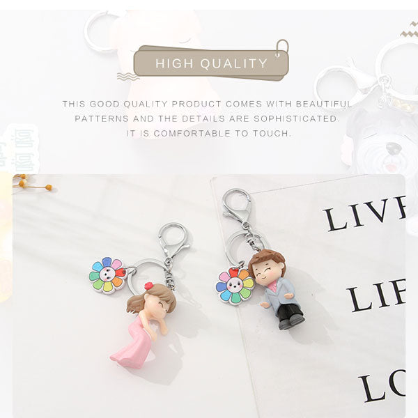 Dressed Up Couple Keychain