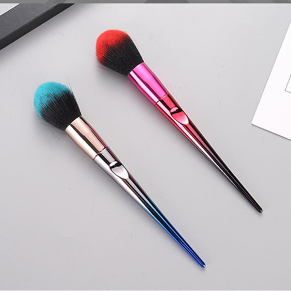 Electroplated Gradient Color Series Blusher Brush With Handle (Price For 1 Piece)