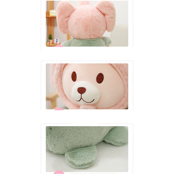Elephant Cap Design Bear Plush Doll