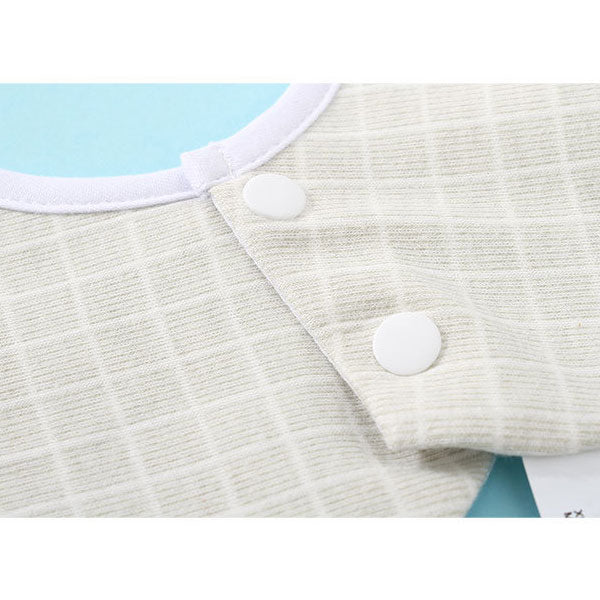 Embroidery Plaid Hexagonal Baby Drool Bibs (Price For 1 Piece)
