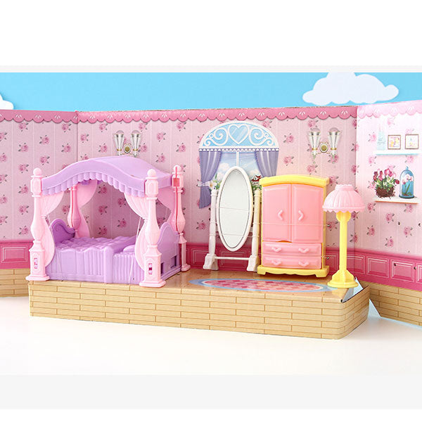 European Style Bedroom Dollhouse Furniture Toy Set