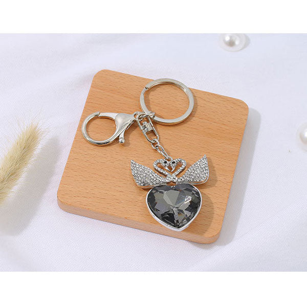 Exquisite Swans Key Chain