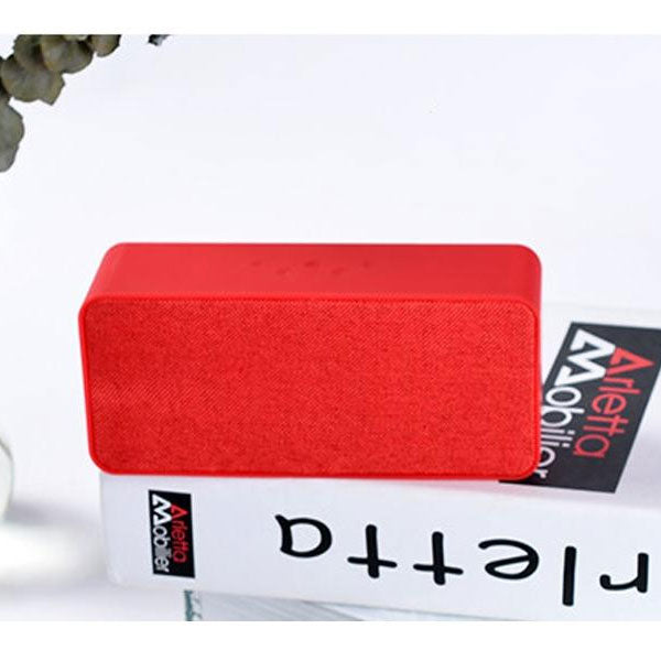 Fashionable Double Speaker Bluetooth/Aux/Sd Card Loud Speaker-Wireless-Chargeable-Red