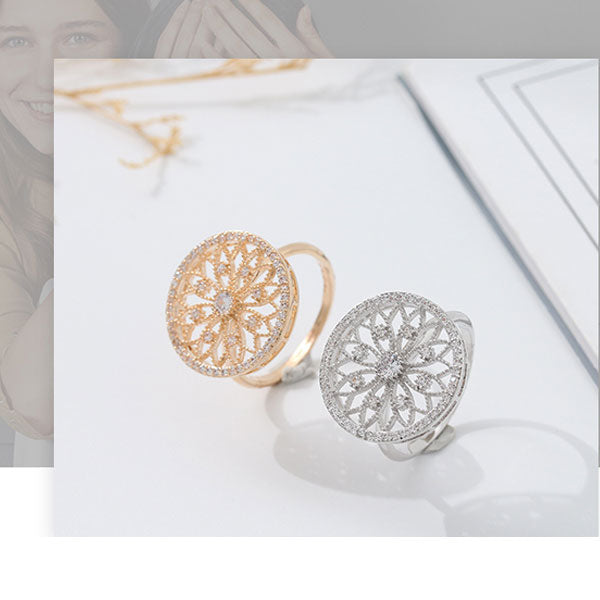 Floral Filigree Ring (Price For 1 Piece)